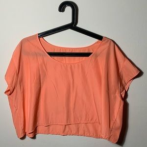 Coral Sheer American Apparel Crop Top
